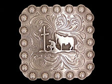 "Western Lodge Cabin Kitchen Decor 1 1/2"" Praying Cowbooy Concho Drawer Pulls (6)"