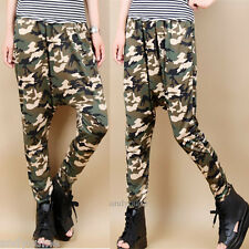 Fashion Womens Hip Hop Harem Pants Baggy Camouflage Jogger Dance Trousers Slacks
