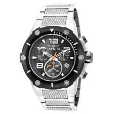 Invicta 19528 Gent's Speedway Chrono Black Dial SS Bracelet Watch