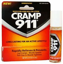 3 Pack - Cramp 911 Muscle Relaxing Roll-on Lotion 0.15oz Each