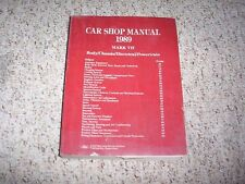 1989 Lincoln Mark VII 7 Shop Service Repair Manual Book Bill Blass LSC 5.0L V8