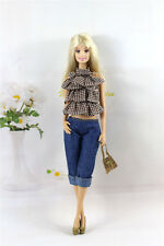 4in1 Set Fashion Casual Dress Suits Clothes For Barbie Doll Xmas Gifts K03