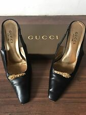 Stunning Gucci Leather Detailed Gucci Sling Back Shoes Size 39