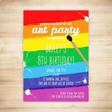 Art Party Paint Party Birthday Party Invitation - DIGITAL PRINTABLE PDF TEMPLATE