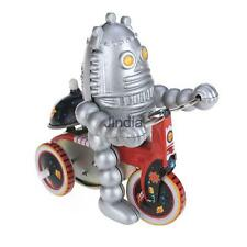 Retro Wind Up Baby Robot on Tricycle Metal Tin Toy Clockwork Toys Gifts