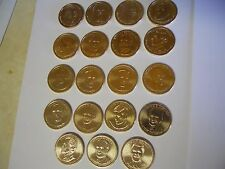 1 of Each President Vol 2 (19 Coins) 2012-2016 Presidential $1 Golden Dollar UNC