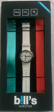 BILL'S WATCH ADDICT PKADD01 INTERCHANGEABLE STRAPS BNIB WARRANTY B!LL'S WATCHES