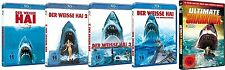 JAWS - DER WEISSE HAI 1 2 3 4 + 12 kultige SHARK HORRORFILME BLU-RAY Collection