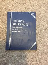 Whitman Coin Folder 9683 with 30 British Pennies 1902-1929 a nice collection