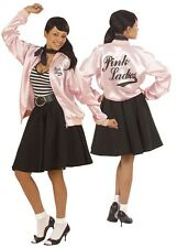 Deluxe 1950 Grasa Pink Lady señoras chaqueta Fancy Dress Talla Plus Xl 18-22