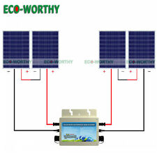 400W Grid Tie Kit: 4*100W Solar Panel with 600W 24V Waterproof Inverter for Home