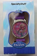 NEW DISNEY FROZEN ELSA Analog Watch with Rhinestones & Ribbed Band Boxed s(FRBL)