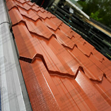 TERRACOTTA TILE EFFECT ROOFING SHEETS - PLASTISOL COATED METAL/STEEL ROOF SHEETS