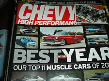 CHEVY HIGH PERFORMANCE magazine feb. 2016 BEST OF YEAR -11 TOP MUSCLE CARS   B6