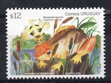 Native bee insect Xylocopa augusti & toad frog URUGUAY MNH stamp