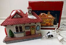 Dickens Snow Village TRAIN STATION BUILDING Lighted Christmas Display House