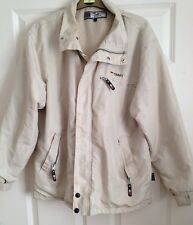 Tommy Hilfiger Athletics Men's Cream  Jacket Coat Size Large With Fold Away Hood