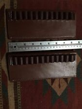 Lot of Two 45Colt 44Mag Caliber Bullet Cartridge Belt Slide Leather Holder Used