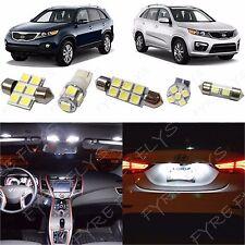 8x White LED lights interior package kit for 2011-2013 Kia Sorento KS1W