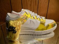2005 NIKE DUNK LOW PRO SB De La Soul white/yellow 304292-171 sz 11.5