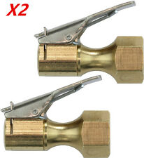 Heavy Duty Golden Colour Brass Clip-on Female 1/4'' NPT Tyre Inflater Air Chuck