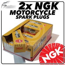 2x NGK Spark Plugs for TRIUMPH 750cc T140V Bonneville 73- 88 No.2411