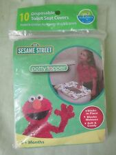 New Sealed 10 Count Sesame Street Disposable Toilet Seat Covers Sticks in Place