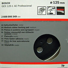 Bosch GEX 125-1 AE MEDIUM Backing Sanding Rubber Base Pad Plate 2608000349