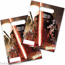 6 Star Wars Episode VII 7 The Force Awakens Party Gift Treat Plastic Loot Bags