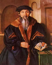 Nice Oil painting georg pencz - portrait of a man old man with book no framed @