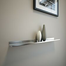 EXTRA-DEEP 2ft Stainless Steel Floating Ledge for Photos and Pictures,Wall Shelf