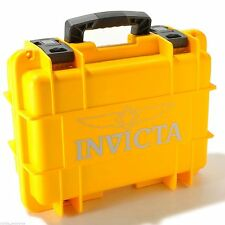 Invicta 8 Slots Impact Diver Box/Case Yellow Impact Resistant Case Waterproof