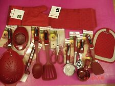 KitchenAid Red 15p Utensil Lot/Set: Turners/Pizza/Colander/Ice Cream Scoop+ ~NWT