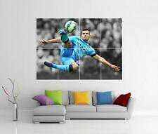 SERGIO AGUERO MANCHESTER CITY FC GIANT WALL ART PICTURE PHOTO POSTER