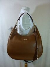 NWT Coach Saddle Brown Pebbled Leather Large Harley Hobo Bag $425 - 38259