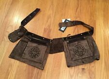 Just Cavalli Women's Slouch Pocket Suede Leather Belt New With Tags Couture