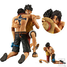 Set 2pcs Japan Anime One Piece Luffy Portgas D Ace Dramatic Showcase Figure 12cm