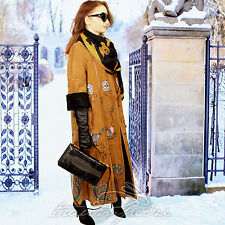 RUNWAY LAMBSKIN LEATHER COAT Pelz Boho Mantel Persianer Swakara Hippie Blogger