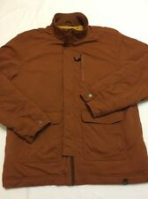 Prana Jacket Nylon Stretch Insulated Rust Orange Brown Men's Sz XL