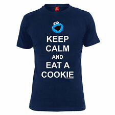 Sesamstrasse T-Shirt Größe S Keep Calm And Eat A Cookie !  Sesame Street