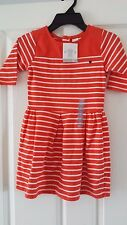 Brand new carters filles orange/blanc à rayures robe 6 ans