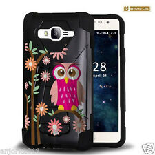 Daisy Owl Shockproof Case w/Stand Cover for Samsung Galaxy Express Prime J3
