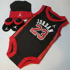 Baby Babies Infants New Born Boys Girls JUMPMAN JORDAN 23 3 Piece Babysuit set