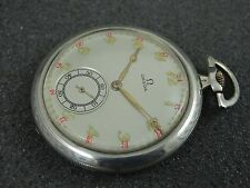 COLLECTABLE OLD OMEGA SILVER POCKET WATCH CASE