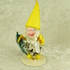 Vintage Pine Cone Elf Gnome w/ Composition Face Christmas Figurine W Germany