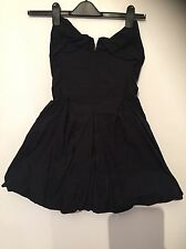 All Saints Viola Corsetto Abito in Nero Taglia UK 8 RARA BNWT RRP £ 145