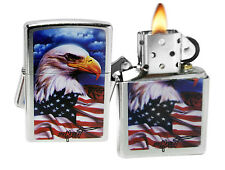 Zippo Lighter 24764 Mazzi Freedom Americana Street Chrome Windproof NEW