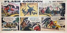 Flash Gordon by Mac Raboy - lot of 12 color Sunday comic pages - early 1963