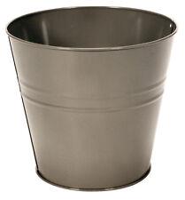 Cesta de papel desechado Pequeño Metal Galvanizado Cubo de Basura Cubo De Basura Baño Dormitorio
