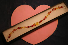 """Beautiful Baltic Amber And Carnelian Gems 6.2 Gr. 8"""".5  inches Long In Gift Box"""